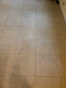 dirty tile before cleaning